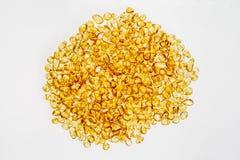 Apedreja a luz amarela ambarina na superfície Imagens de Stock Royalty Free