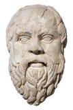 Apedreje a cabeça de Socrates grego do filósofo imagens de stock royalty free