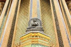 Apedreje a estátua de Buddha Fotografia de Stock