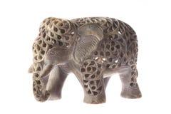 Apedreje o elefante Fotos de Stock Royalty Free