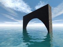 Apedreje a ponte Fotografia de Stock Royalty Free