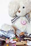 Apego de comer los dulces Imágenes de archivo libres de regalías