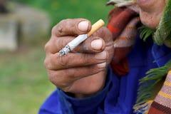 Apego de nicotina Imágenes de archivo libres de regalías