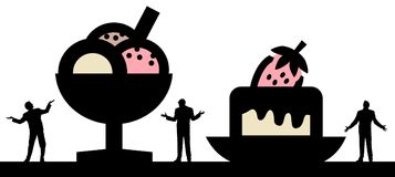 Apego del azúcar que lucha libre illustration