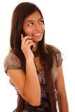 Apego del teléfono celular del adolescente Imagenes de archivo