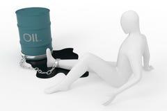 Apego do petróleo ilustração royalty free