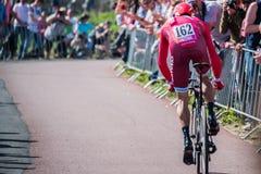 Apeldoorn, holandie Maj 6, 2016; Fachowy cyklista podczas pierwszej fazy wycieczka turysyczna Włochy 2016 Fotografia Royalty Free