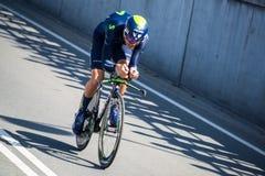 Apeldoorn, holandie Maj 6, 2016; Fachowy cyklista podczas pierwszej fazy wycieczka turysyczna Włochy 2016 Obrazy Royalty Free