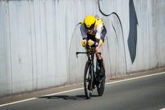 Apeldoorn, holandie Maj 6, 2016; Fachowy cyklista podczas pierwszej fazy wycieczka turysyczna Włochy 2016 Obrazy Stock