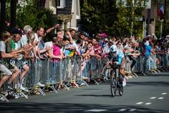 Apeldoorn, holandie Maj 6, 2016; Fachowy cyklista podczas pierwszej fazy wycieczka turysyczna Włochy 2016 Zdjęcia Stock