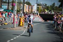 Apeldoorn, holandie Maj 6, 2016; Fachowy cyklista podczas pierwszej fazy wycieczka turysyczna Włochy 2016 Obraz Royalty Free
