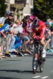 Apeldoorn, holandie Maj 6, 2016; Fachowy cyklista podczas pierwszej fazy wycieczka turysyczna Włochy 2016 zdjęcia royalty free