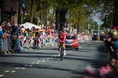 Apeldoorn, holandie Maj 6, 2016; Fachowy cyklista podczas pierwszej fazy wycieczka turysyczna Włochy 2016 Obraz Stock