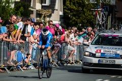 Apeldoorn, holandie Maj 6, 2016; Fachowy cyklista podczas pierwszej fazy wycieczka turysyczna Włochy 2016 Zdjęcie Royalty Free