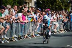 Apeldoorn nederländska Maj 6, 2016; Yrkesmässig cyklist under den första etappen av turnera av Italien 2016 arkivfoto