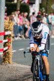 Apeldoorn, Nederland 6 Mei, 2016; Professionele fietser tijdens het eerste stadium van de Reis van Italië 2016 Stock Foto's