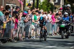 Apeldoorn, Nederland 6 Mei, 2016; Professionele fietser tijdens het eerste stadium van de Reis van Italië 2016 Stock Fotografie