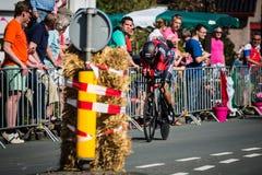 Apeldoorn, Nederland 6 Mei, 2016; Professionele fietser tijdens het eerste stadium van de Reis van Italië 2016 Royalty-vrije Stock Foto