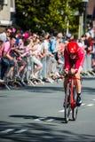 Apeldoorn, Nederland 6 Mei, 2016; Professionele fietser tijdens het eerste stadium van de Reis van Italië 2016 Royalty-vrije Stock Fotografie