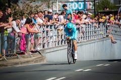 Apeldoorn, Nederland 6 Mei, 2016; Professionele fietser tijdens het eerste stadium van de Reis van Italië 2016 Stock Afbeelding