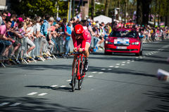 Apeldoorn, Nederland 6 Mei, 2016; Professionele fietser tijdens het eerste stadium van de Reis van Italië 2016 Stock Foto