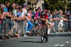 Apeldoorn, Nederland 6 Mei, 2016; Professionele fietser tijdens het eerste stadium van de Reis van Italië 2016 Royalty-vrije Stock Afbeeldingen