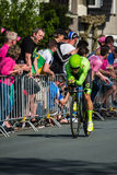 Apeldoorn, Netherlands May 6, 2016; Rigoberto Uran  during Time trial stage Royalty Free Stock Photo