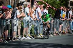 Apeldoorn, Pays-Bas le 6 mai 2016 ; Cycliste professionnel pendant la première phase de la visite de l'Italie 2016 photo stock