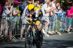 Apeldoorn, Pays-Bas le 6 mai 2016 ; Cycliste professionnel pendant la première phase de la visite de l'Italie 2016 images stock
