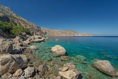 Apella beach, karpathos. Apella beach, a beautiful beach on the island Karpathos, Greece Stock Image