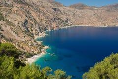 Apella beach, karpathos. The famous Apella beach in Karpathos, Greece Royalty Free Stock Photo