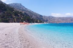 Apella Beach, Karpathos Island, Greece royalty free stock photo