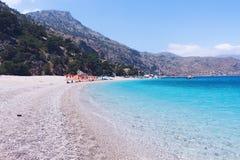 Apella plaża, Karpathos wyspa, Grecja zdjęcie royalty free