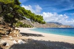 Apella plaża na Karpathos wyspie, Grecja zdjęcie stock