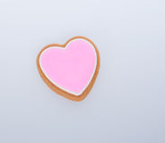 apelmace la decoración o la decoración de la torta de la forma del corazón en un fondo Imágenes de archivo libres de regalías