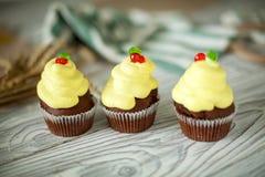 Apelmaza las magdalenas dulces Foto de archivo