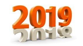 apelsin 2018-2019 Vektor Illustrationer