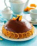 Apelsin-choklad kaka Royaltyfri Bild