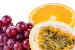 Apelsin för druva för passionfrukt Fotografering för Bildbyråer