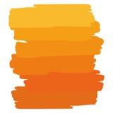 Apelsin för konstobjektpalett Arkivfoton