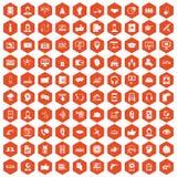 apelsin för sexhörning för 100 symboler för appellmitt Arkivbilder