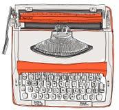 Apelsin för signal för skrivmaskin två kräm- stock illustrationer