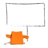 apelsin för tecken 3d med det klara mellanrumet Arkivbild