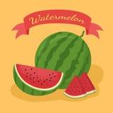 Apelsin för vattenmelonfruktbaner Royaltyfri Bild