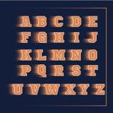 Apelsin för vektor för alfabetsport 3D Royaltyfria Bilder