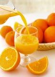 Apelsin-fruktsaft Arkivbilder