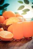 Apelsin fruktsaft-filtrerad Images† Royaltyfria Bilder