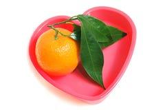 Apelsin i hjärtan Royaltyfri Bild