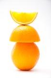 Apelsin i olika former Arkivfoto