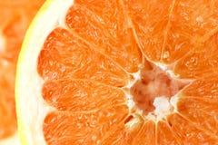 Apelsin i snitt Arkivbild